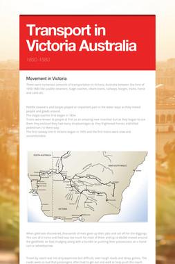 Transport in Victoria Australia