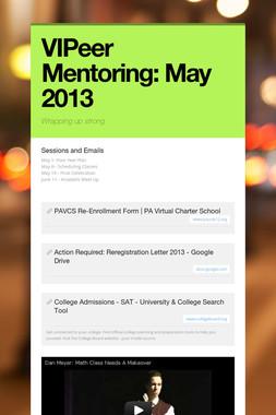 VIPeer Mentoring: May 2013