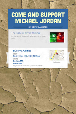 Come and support Michael jordan