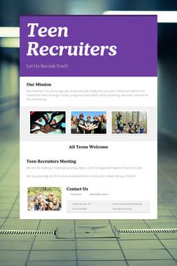 Teen Recruiters