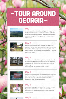 ~Tour around Georgia~