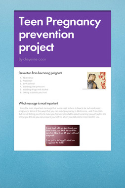Teen Pregnancy prevention project