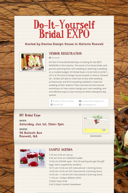 Do-It-Yourself Bridal EXPO