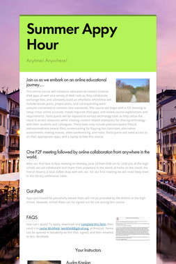 Summer Appy Hour