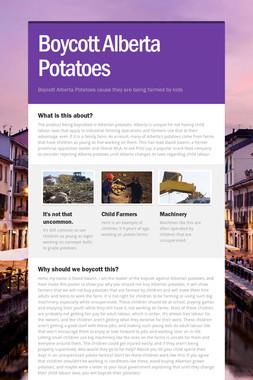 Boycott Alberta Potatoes