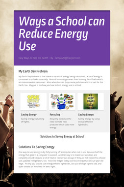 Ways a School can Reduce Energy Use