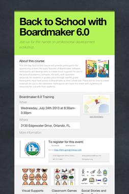 Back to School with Boardmaker 6.0