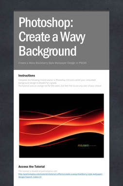 Photoshop: Create a Wavy Background