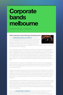 Corporate bands melbourne
