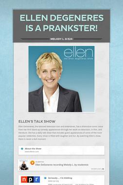 Ellen DeGeneres is a Prankster!