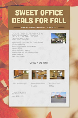 SWEET OFFICE DEALS FOR FALL