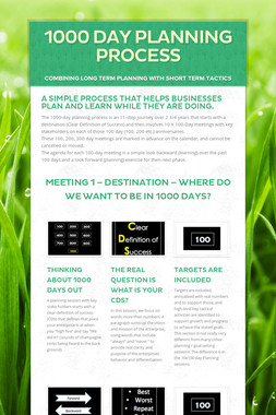 1000 Day Planning Process