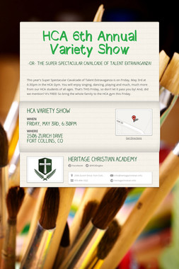 HCA 6th Annual Variety Show
