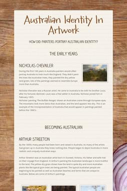 Australian Identity In Artwork