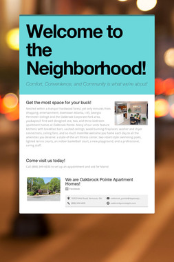 Welcome to the Neighborhood!