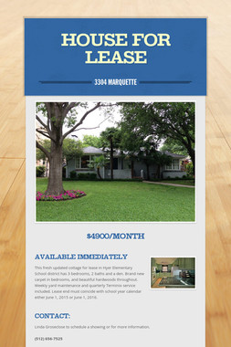 HOUSE FOR LEASE