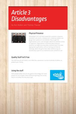 Article 3 Disadvantages
