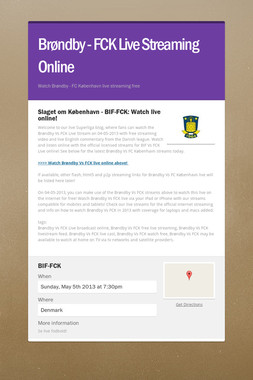 Brøndby - FCK Live Streaming Online