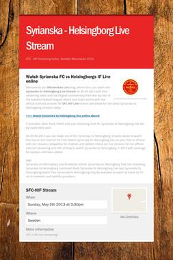 Syrianska - Helsingborg Live Stream