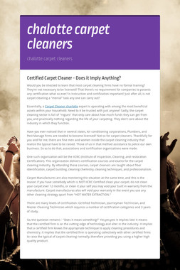 chalotte carpet cleaners