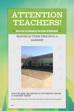 Attention Teachers!