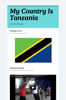 My Country Is Tanzania