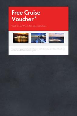 Free Cruise Voucher*