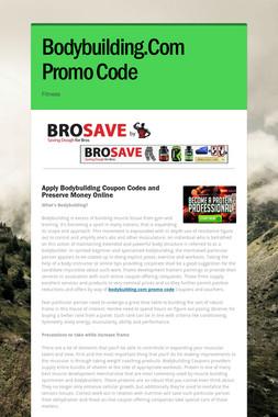 Bodybuilding.Com Promo Code