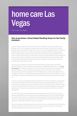 home care Las Vegas