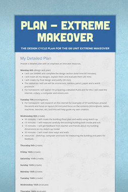 PLAN - Extreme Makeover