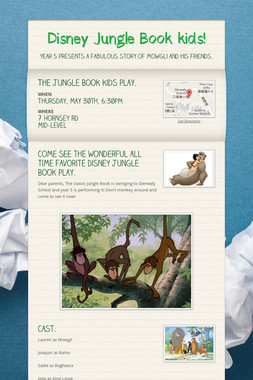 Disney Jungle Book kids!
