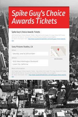 Spike Guy's Choice Awards Tickets