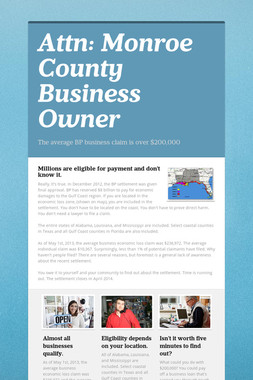 Attn: Monroe County Business Owner