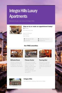 Integra Hills Luxury Apartments