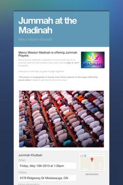 Jummah at the Madinah