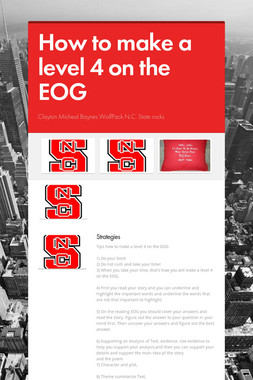 How to make a level 4 on the EOG