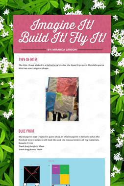 Imagine It! Build It! Fly It!