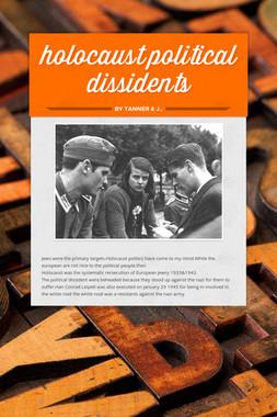 holocaust political dissidents