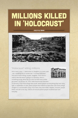 Millions Killed In 'Holocaust'