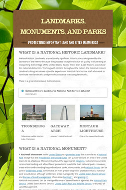 Landmarks, Monuments, and Parks