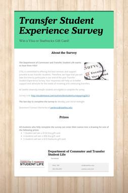 Transfer Student Experience Survey