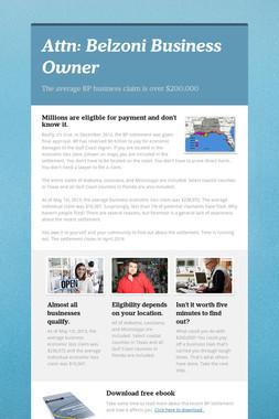 Attn: Belzoni Business Owner