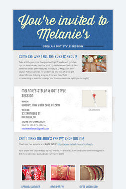 You're invited to Melanie's
