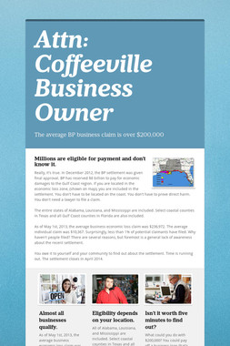 Attn: Coffeeville Business Owner