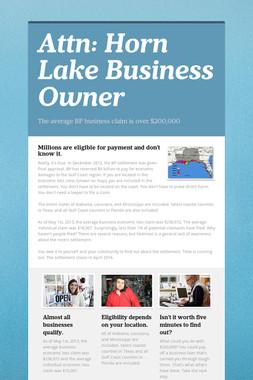 Attn: Horn Lake Business Owner
