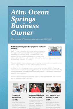 Attn: Ocean Springs Business Owner