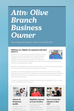 Attn: Olive Branch Business Owner