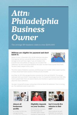 Attn: Philadelphia Business Owner