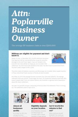 Attn: Poplarville Business Owner
