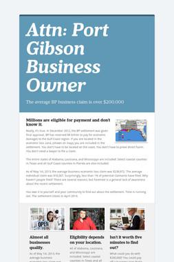 Attn: Port Gibson Business Owner